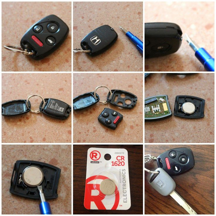 Changing the battery in your car key remote.....you don't