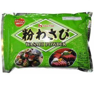 House Kona Wasabi 1Kg - bubuk wasabi House Kona Wasabi adalah Bubuk wasabi ini secara eksklusif dibuat dengan bahan-bahan alami, tanpa bahan tambahan atau pengawet. Cukup tambahkan air untuk mengubahnya menjadi pasta wasabi, atau menggunakannya secara langsung dalam adonan anda.