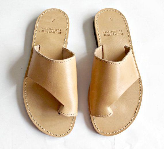 Griekse sandalen, lederen dia