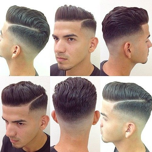 Cut and Style Cut: #0 Clippers fading up to a #4 on back and sides with texturised scissor cut on top. Styling products: Red Muk Styling Paste for texture and hold, finished with hairspray