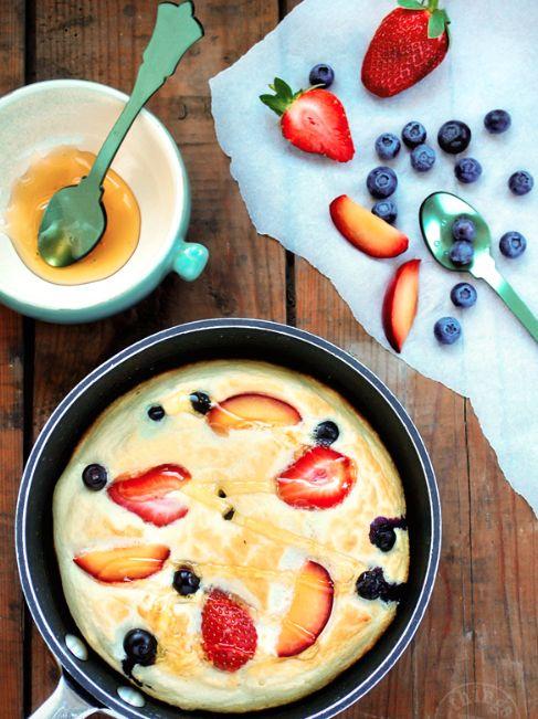 Crêpe au miel…légère comme un nuage! #crêpe #miel #déjeuner #recette