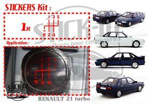 Autocollant Stickers Renovation Pommeau Renault 21 R21 Turbo Gear Knob Gearknob | eBay