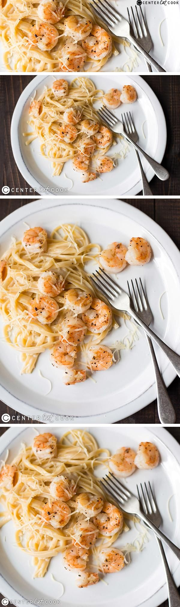 Enjoy a creamy and satisfying SHRIMP FETUCCINI ALFREDO from scratch any night of the week - delicious, easy, and ready in just 30 minutes!