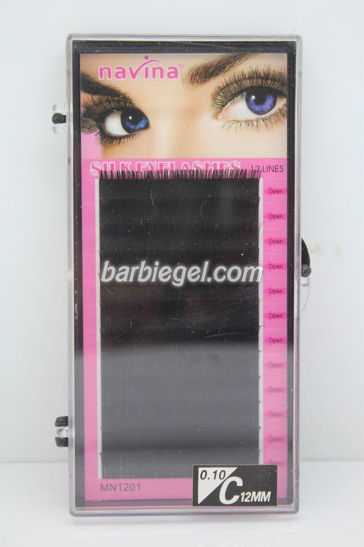 Retail 1 PCS (8/10/12/14mm)Optional C Curve 0.1 Thickness Silk Eyelash Extension Artificial Fake False Eye Lash Eyelashes