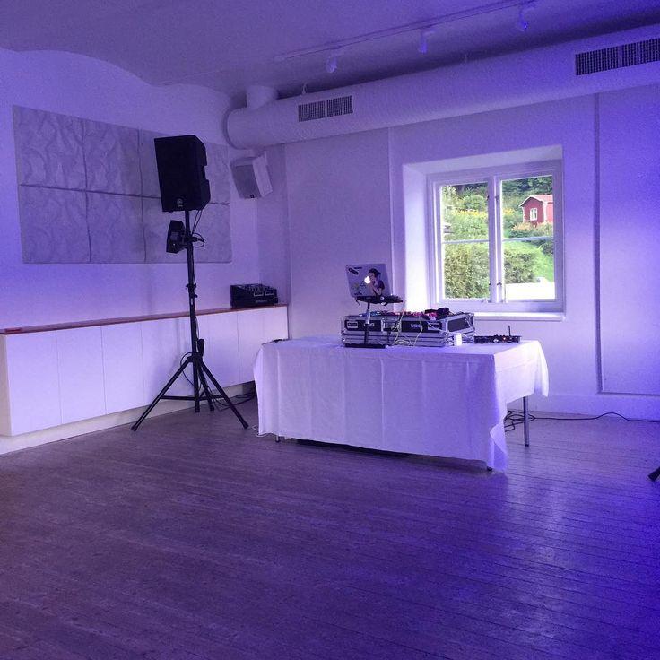 Preppad för bröllopsfest ikväll. Plats: Ekensdal, Nacka. #bröllopsfest #dj #djgruppen #nacka #ekensdal