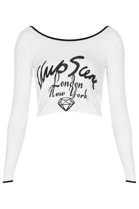 **Club Scene Long Sleeve Crop by Illustrated People