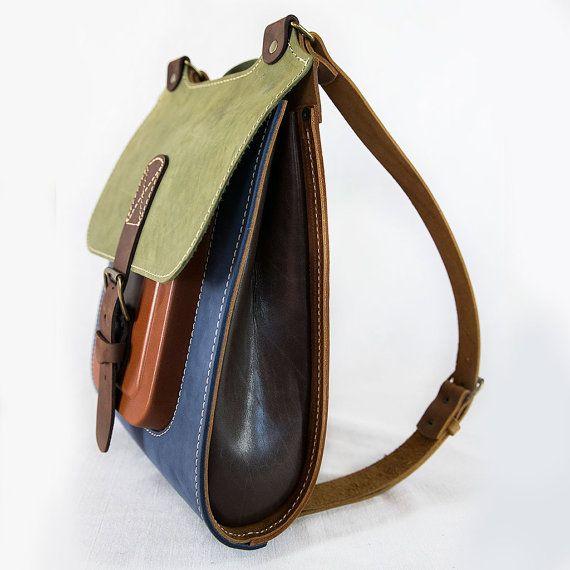 Colorful Leather Backpack Handmade rucksack 13 by InBagWeTrust