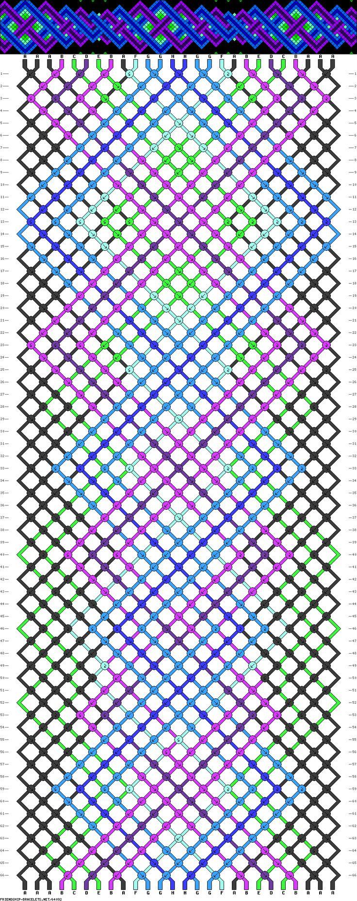 26 Strings, 66 Rows, 8 Colors · Friendship Bracelet