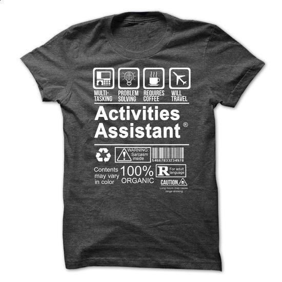 ACTIVITIES ASSISTANT - CERTIFIED JOB - #purple hoodie #zip hoodie. I WANT THIS => https://www.sunfrog.com/Funny/ACTIVITIES-ASSISTANT--CERTIFIED-JOB.html?60505