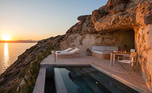 Un hotel troglodyte a Majorque