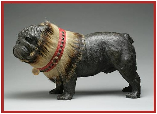 Early 20th Century Leather & Badger Hair Dog Collar    Fetched $1560 at the Dog Auction in 2008.   Image:  Bonhams
