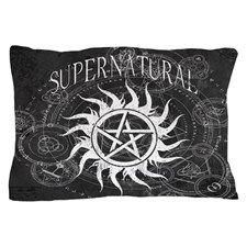Supernatural Black Pillow Case