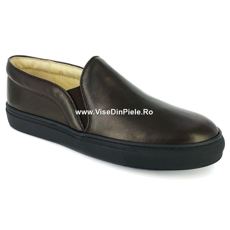 Vise din Piele :: Haine Incaltaminte Accesorii din piele :: Pantofi Clujana barbati 3500 Maro