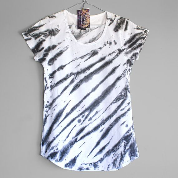 CALL IT ZEBRA. T shirt for woman or girl. Hand dyed by Smukie