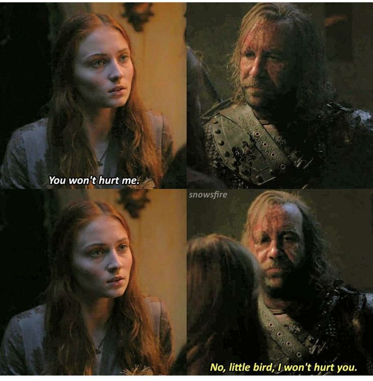 Sansa catches a rare glimpse of The Hound's softer side - 2x09 Blackwater