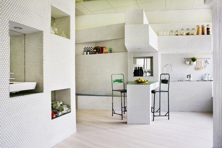zweifarbige wandgestaltung farbe – vegdis, Innenarchitektur ideen