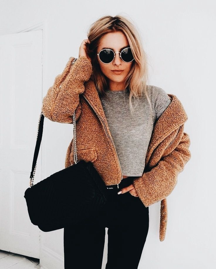 Cozy and cute casual outfit.