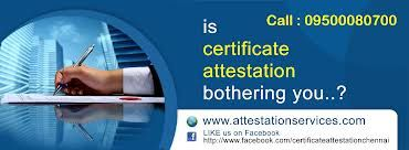 Welcome, Sir/Mam, We are from GENIUS GROUP GLOBAL attestation/apostille service pvt.ltd. we provide attestation and apostille for all educational and non educational certificates within less amount  and duration for all countries. www.attestationcertificate.com/