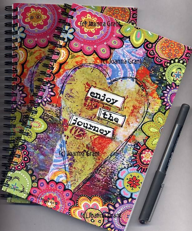 """AMAZING doodled gelli prints! """"I had my Gelli print art turned into some little notebooks for gift giving. I am SO pleased with the results! I owe a big thank you to Gelli Arts for creating such a fantastic product that has elevated my mixed media work to a whole new level.""""  - Joanna Grant Mixed Media Art"""