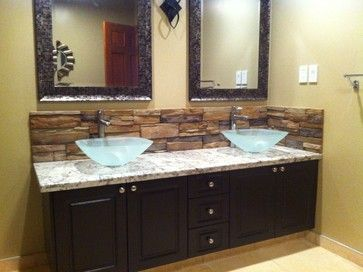 Bathroom Backsplash Ideas 24 best bathroom backsplash images on pinterest | bathroom ideas