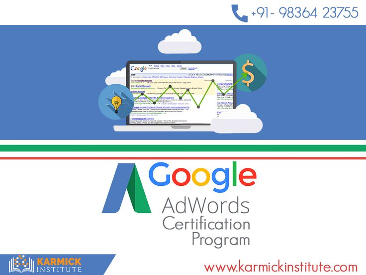 Become a Google #AdWords #Certified Professional at Karmick Institute! Increase your chances of excelling in the realm of #DigitalMarketing.