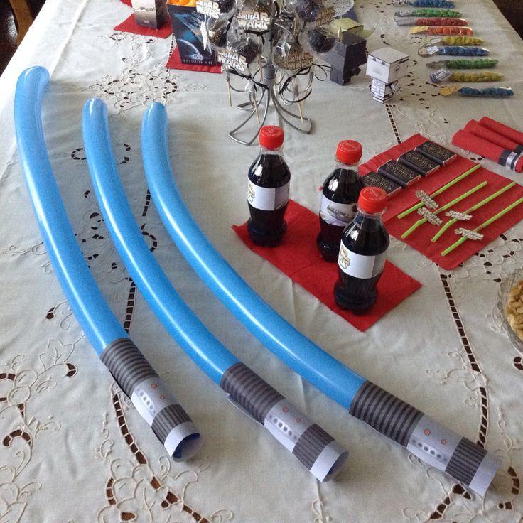 Globos espadas jedi