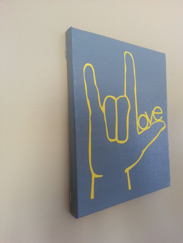 8x10 I Love You Sign Language Canvas by TAGcreations82 on Etsy, $20.00