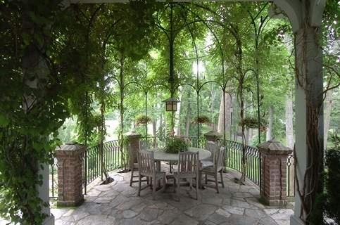 Andie Macdowell S Tudor Style Fairy Tale Home Gazebo