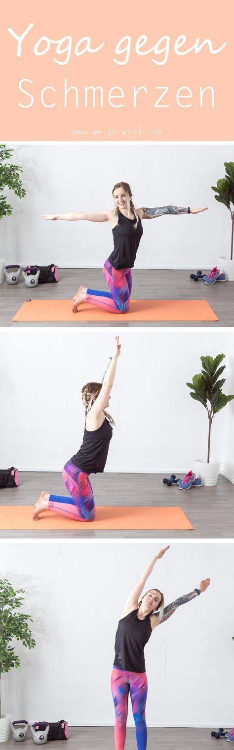 Yoga gegen Rückenschmerzen ist nicht schwer durchzuführen. Die sanften Dehnungen und Streckungen lösen die verklebten Faszien, fördern die Durchblutung und wirken schmerzlindernd. Dieses Faszien Yoga löst Verspannungen in den Schultern, im Nacken und im Rücken. Besonders für Leute mit Bürojob ist regelmäßige Bewegung wichtig. #Faszien #Yoga #Verspannungen