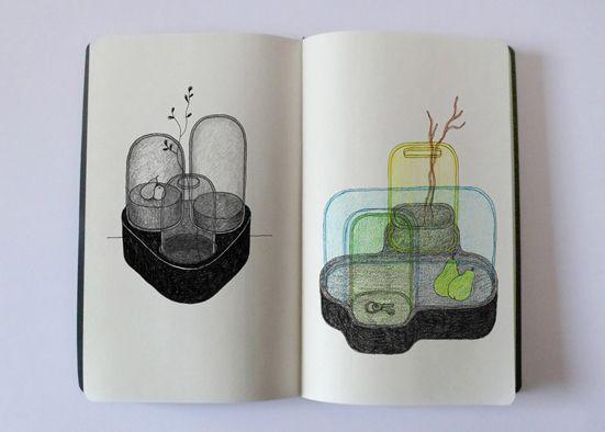 Croquis de recherche (outil de création) Donges Ionna Vautrin