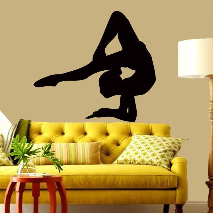Wall Vinyl Decal Room Sticker Gymnast Girl Pose Yoga Sport People Interior m400 #HEAD