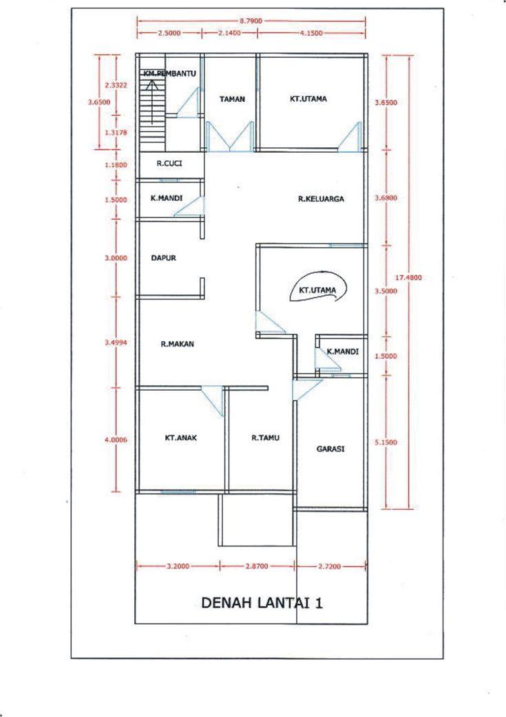 15 Denah Rumah 3 Kamar Tidur Ada Garasi | Desain Rumah Modern