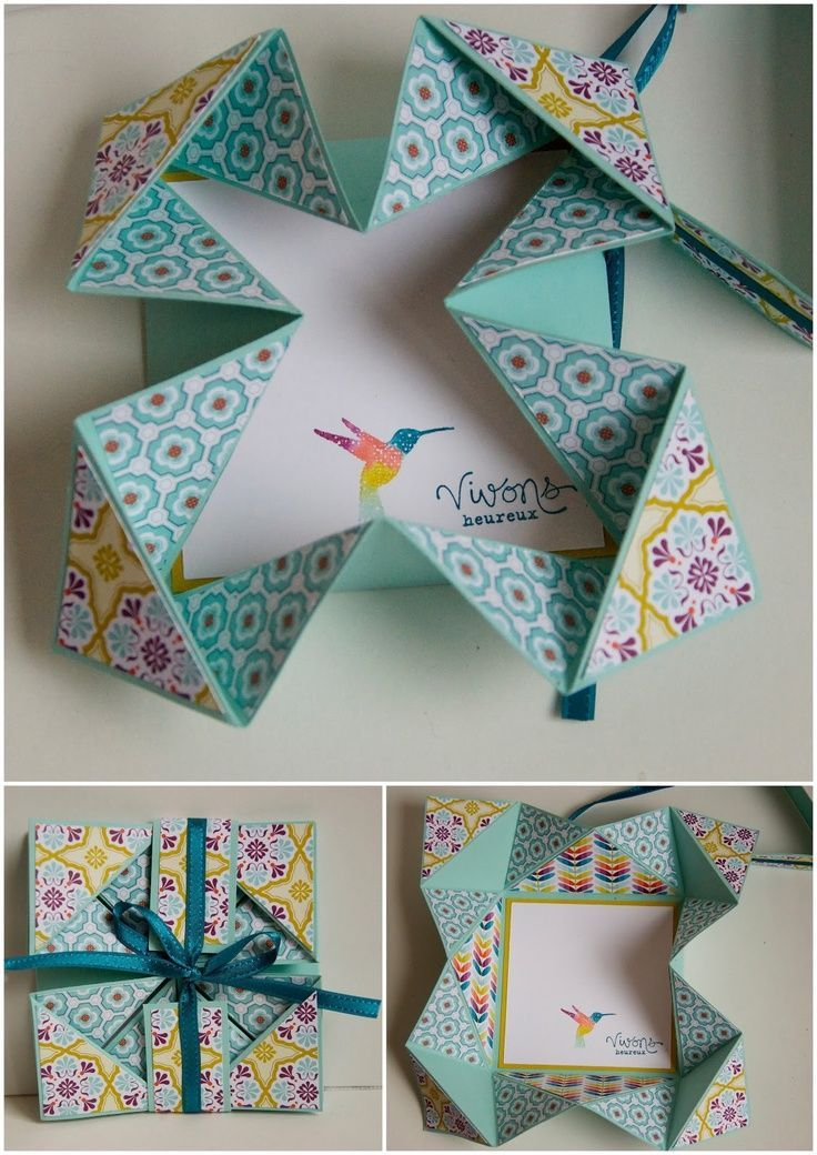 Как сложить красиво открытку, под поздравление днем