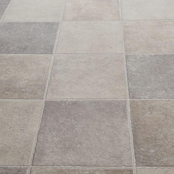 Floorgrip 592 Pompei Stone Tile Effect Vinyl Flooring Bathroom