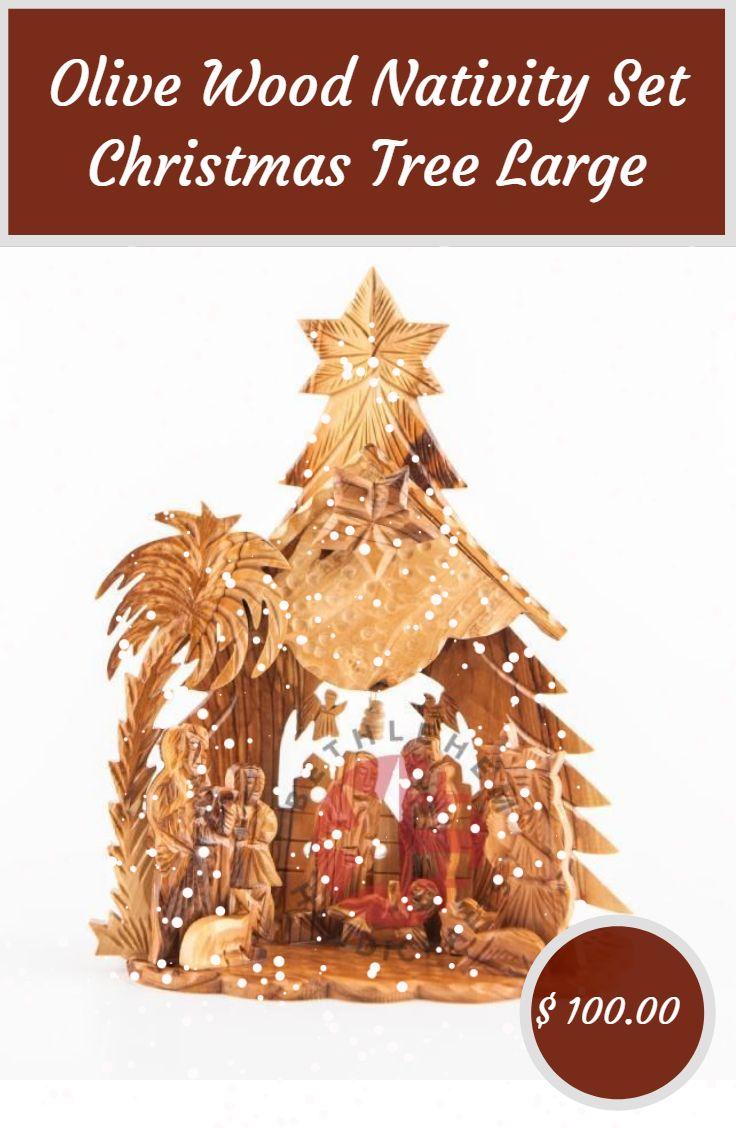 Olive Wood Nativity Set Christmas Tree Large Nativity Set Olive Wood Christmas Decorations Ornaments