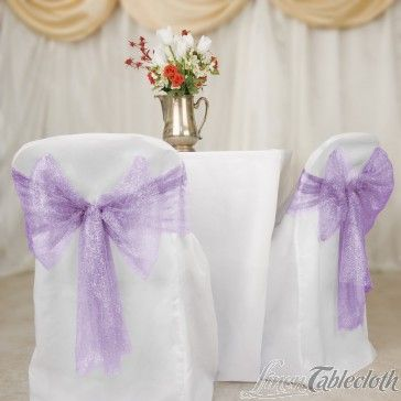 Metallic Web Mesh Sash Lavender For Events And Wedding Chair Covers