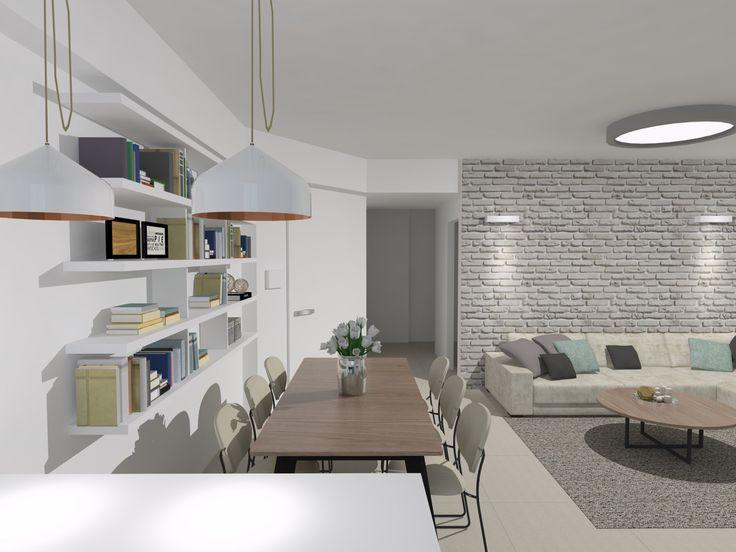 עיצוב סלון ופינת אוכל - עינב מאי אדריכלות ועיצוב פנים