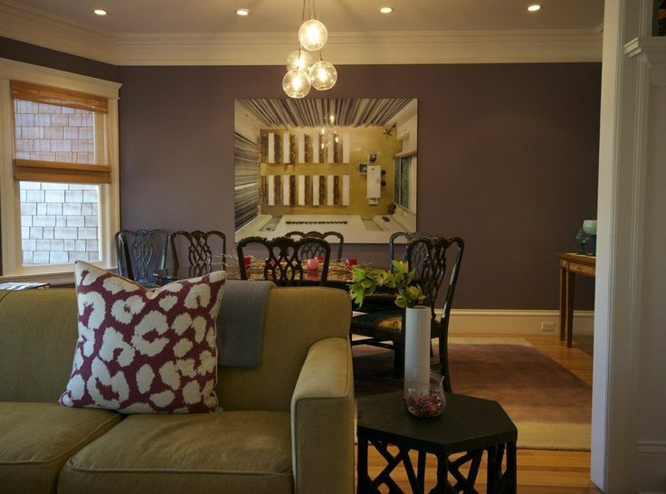 A Dreamy Dining Room With A Dramatic Wall Paint Color, Good Art And A Modern  Hanging Cluster Globe Chandelier Light. Love The Combo Of Modern And ...