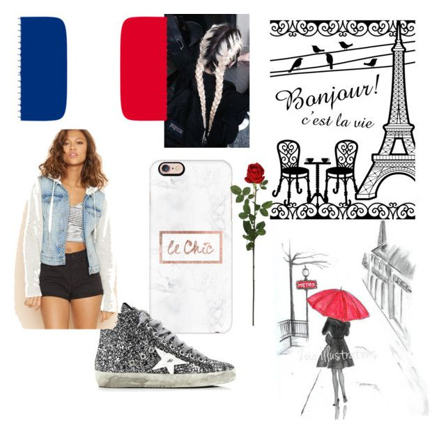 """""""French"""" by vensku on Polyvore featuring Casetify, Golden Goose and Laura Cole"""