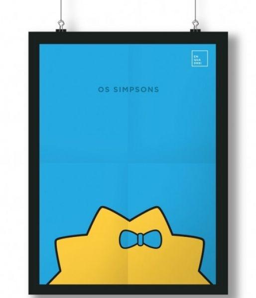 Pôster/Quadro minimalista Simpsons – Maggie