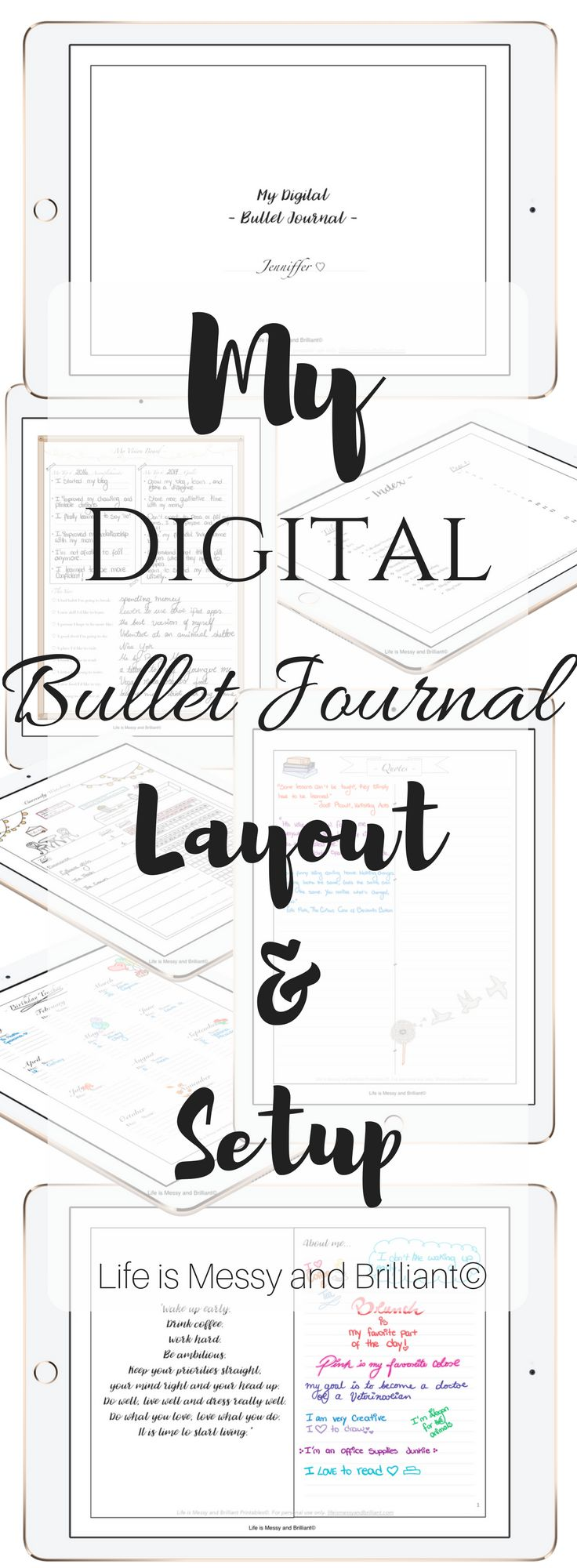 Digital Bullet Journal and Free Bullet Journal printables.