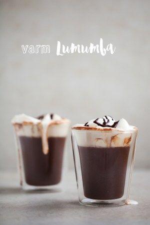 LUMUMBA.  En lækker luksus udgave af varm chokolade med rom og flødeskum og en rigtig lækker vinter drink.