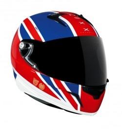 Casco XR1R UK FLAG ( blanco/azul/rojo)