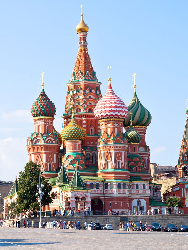 Russia, Moscow, Saint Basil's Cathedral    ((( Hotels in Moscow