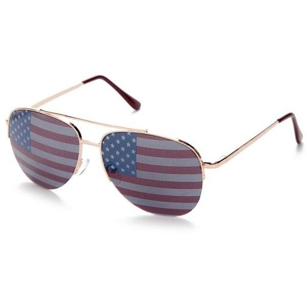 Red Camel Gold Multi American Flag Aviator Sunglasses ($10) ❤ liked on Polyvore featuring accessories, eyewear, sunglasses, gold multi, gold glasses, red camel, american flag sunglasses, gold aviators and gold aviator glasses