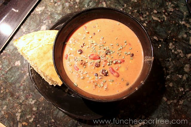 Santa Fe Cheese Soup. I've made this, it's not only ridiculously easy (make it in the crockpot or on the stove) but it's one of my husband's favorite meals. Win-win!