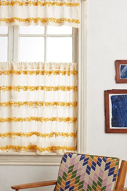 Swing Stripes Cafe Curtain Cafe Curtains Curtains And Pom Pom Curtains