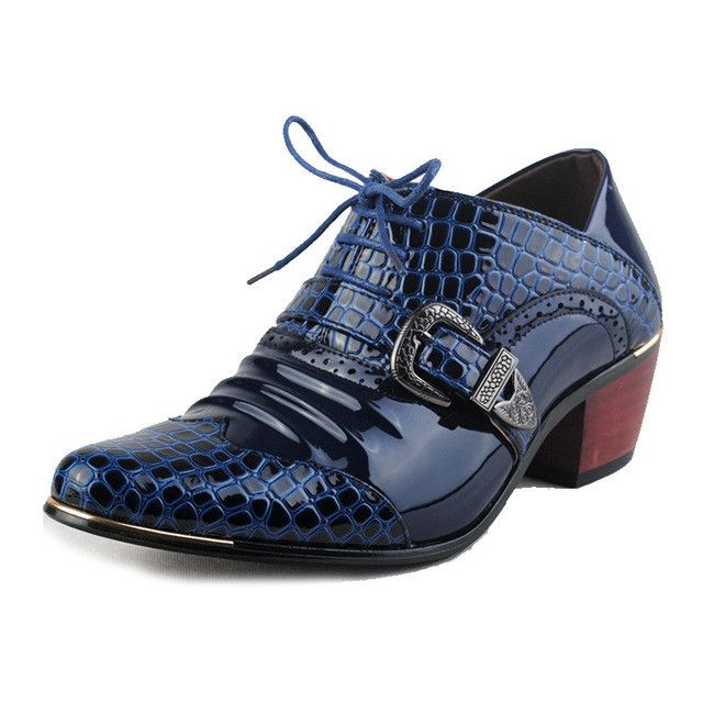 Luxury Men Formal Shoes High Heels Business Dress Shoes Office Male Oxfords Pointed Toe Fashion Oxford Shoes For Men RMC-559
