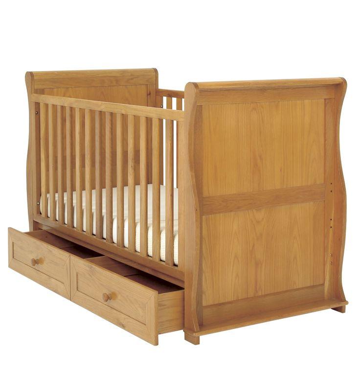 East Coast Nursery Langham Sleigh Cot Bed With Drawers