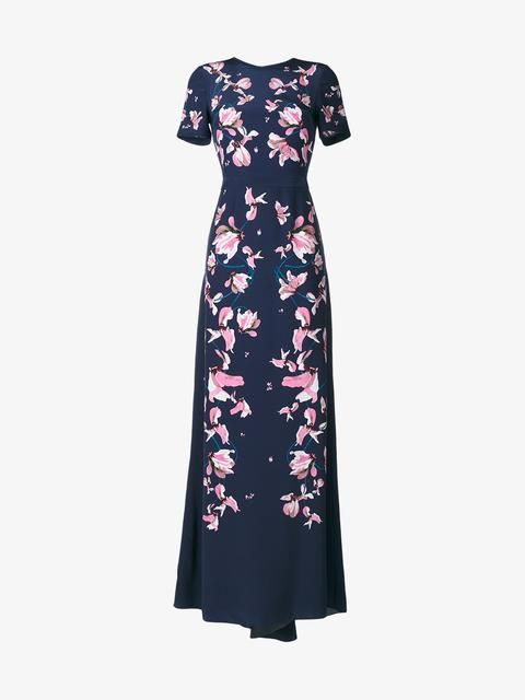 Kayo Lily Floral Print Gown